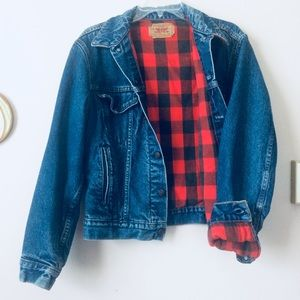 Levi's | Vintage Plaid Lined Denim Trucker Jacket